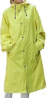 PENGFEI 恋人たち レインコートポンチョ 防水 ロングトレンチコート 歩くことによる旅行 通気性のある 日焼け止め、 4色 5サイズ (色 : イエロー いえろ゜, サイズ さいず : XXL)