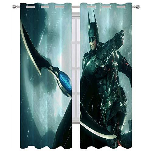 SSKJTC Cortinas opacas para dormitorio con diseño de Batman Arkham Knight Batarang
