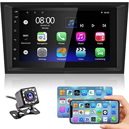Hikity Android 2 DIN Radio de Coche para Opel Astra Corsa Vectra Navegación GPS 7' Pantalla Táctil Bluetooth Estéreo del Coche con FM WiFi USB Enlace Espejo + Cámara Visión Trasera
