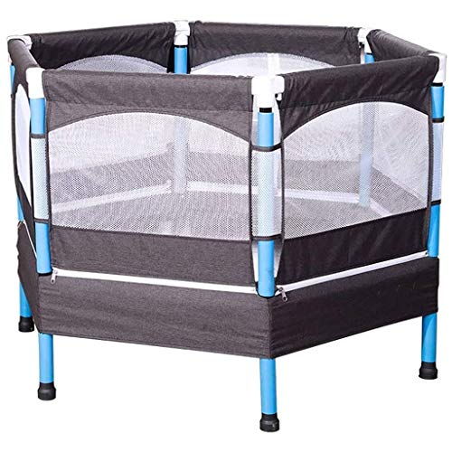 LuoMei Trampolines Rebounder with Enclosure Trampette Kids Silent Rebounder Trampoline Indoor with Guardrail for Gym Indoor Workout Cardio Weight Loss