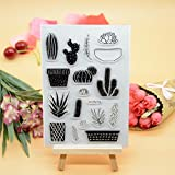 Welcome to Joyful Home 1pc Cactus Design Rubber Clear Stamp for Card Making Decoration and Scrapbooking