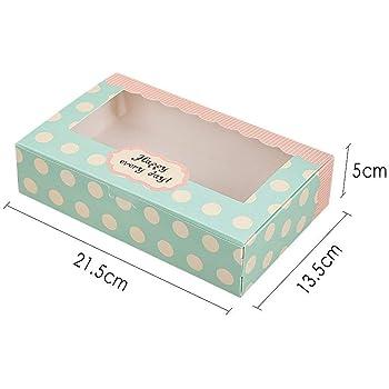 Lvcky 12 cajas de papel para tartas, cupcakes, caja de regalo, 8 ...