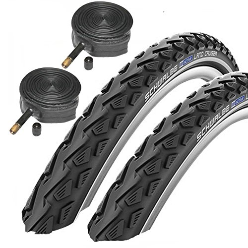 Schwalbe Land Cruiser 26' x 1.75 Mountain Bike Tyres with Schrader Tubes (Pair)