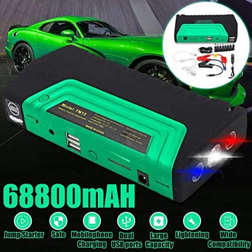 gexingshangdian 68800 mAh auto starthulp 12 V 600 A High Power Bank Car Battery Booster noodoplader startapparaat met LED-licht