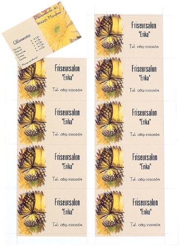 Sattleford Visitenkartendrucken: 250 Visitenkarten, microperforiert, Inkjet & Laser, 250 g/m², 85 x 54 (Vorgestanzte Visitenkarten)
