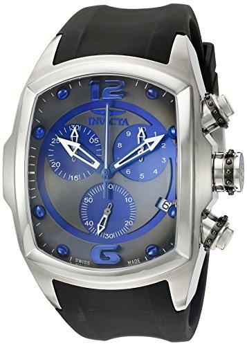 Invicta Men's 6101 Lupah Revolution Collection Chronograph Black Polyurethane Watch