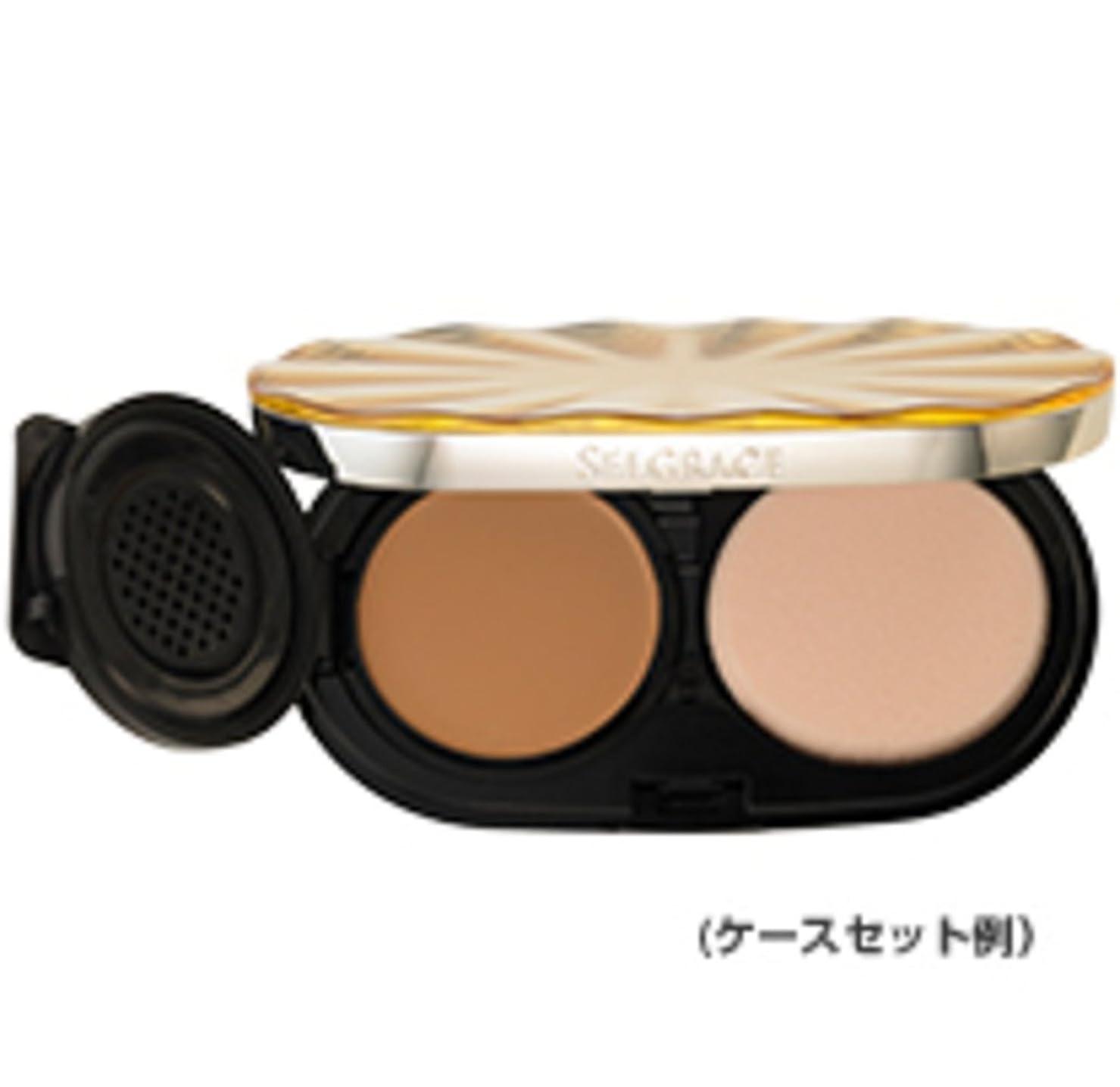 ソブリケット成熟したポータブルナリス化粧品 セルグレース ベースインパクト ファンデーション 130 ライトピンクベージュ レフィル (スポンジ付き)