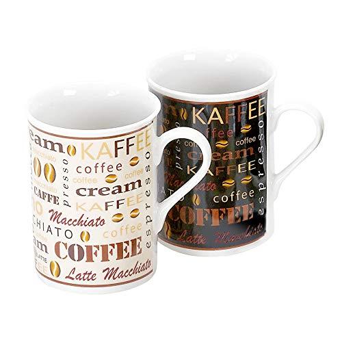 Flirt By R&B Kaffee-Serie Havanna Material 6er Set Kaffeebecher
