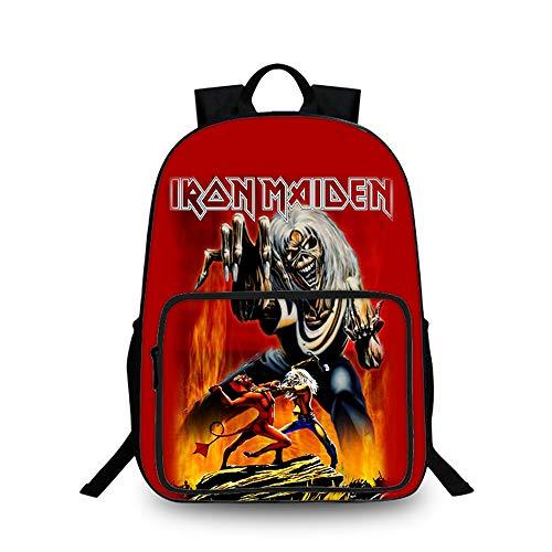 Iron Maiden Student Rucksack-Schul Leichtes Daypack Wandern Tasche Nette Karikatur-3D Nette Muster Kinder Kleine Schultasche Kinder (Color : A10, Size : 27 X 15 X 40cm)