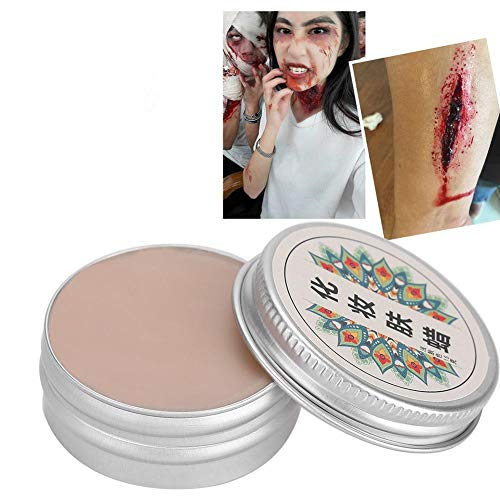 Meiyya Cera de Maquillaje, Cera de Cicatrices de heridas Falsas de Halloween de la Etapa Profesional para Halloween(15g-#1)