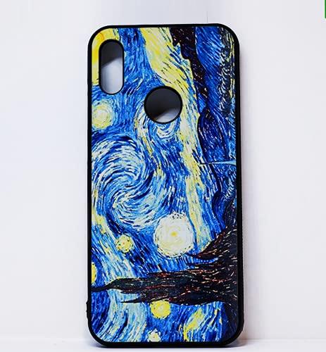 BKstuff Funda Opera d'Arte, Cuadros Famosos Impresión HD (Huawei Y6 2019, Noche Estrellada, Van Gogh)