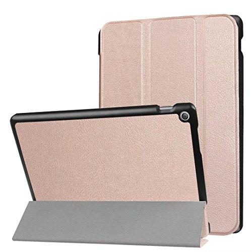 Xitoda Asus ZenPad 10 Etui, Ultra Slim, PU-Leder, Standfunktion, für Tablet Asus ZenPad 10 Z300C / Z300M / Z301M / Z301ML / Z301MFL Tablet Schutzhülle Smart Hülle roségold