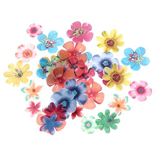 BESTonZON 360Pcs essbare Blumen Cupcake Topper Hochzeitstorte Party Dessert Lebensmittel Dekoration
