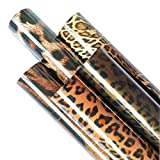 ZAIONE 5pcs/Set 11.8' x 9.8' Leopard Cheetah Tiger Pattern Iron-on Heat Transfer Vinyl Wild Animal Print HTV Craft Film Garment Clothing for T-Shirt Decoration DIY Craft Material (B-Leopard Bundle)