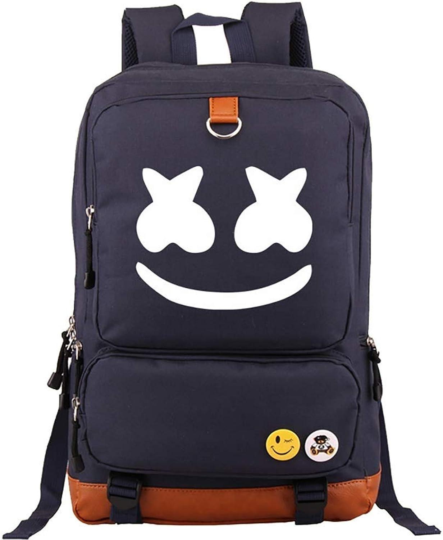 BTS Backpack School Backpack DJ Mashmello Unisex Student Backpack Loptop Bag, Shool Bag,Daypack for Outdoor Travel Differet color (color   Nuvybluee)