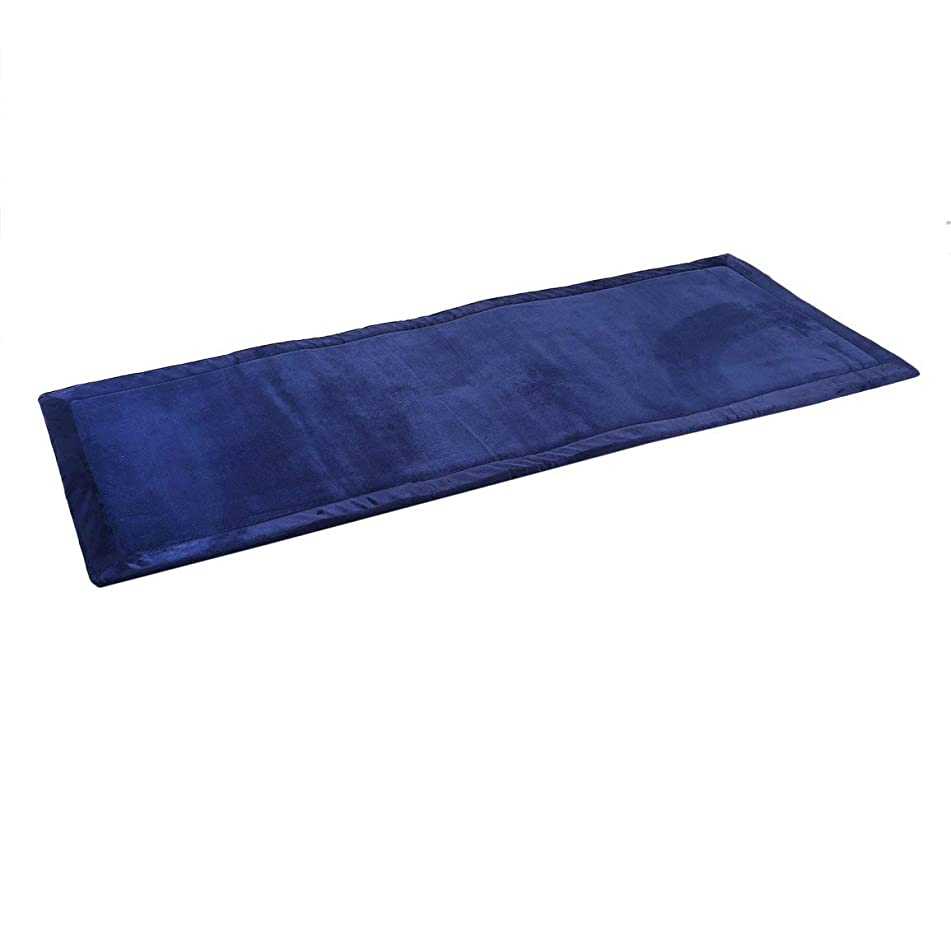 心臓バンジョーデコレーションコーラルフリース畳マットスキッドプルーフカーペット長方形厚い床ラグホームマット用プレイマットソフィーエリアラグクリスマスギフト-ネイビーブルー