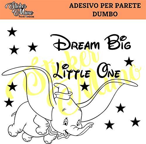 Dumbo Drem Big Little One muurstickers, muurstickers, camper, vrachtwagen, tractor, stickers, sponsortechniek, motorfiets, motorhelm, kleur naar keuze