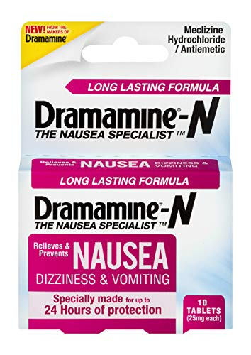 Dramamine-N Long Lasting Formula Nausea Relief | 10 Count | 2 Pack