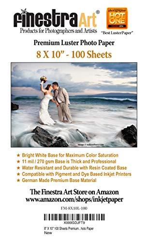 8″ X 10″ Premium Luster Inkjet Photo Paper –...