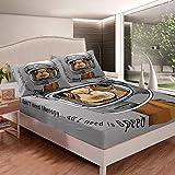 Loussiesd Juego de sábanas de Alpaca con diseño de animales, juego de sábanas de microfibra suave, 3 piezas, tamaño super king
