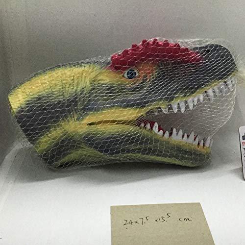MIRECLE Guantes Tyrannosaurus Arco Iris Spinosaurus Juguete de Goma Suave Batalla de la Garra con Bolsa de Red 25CM (Color : B)