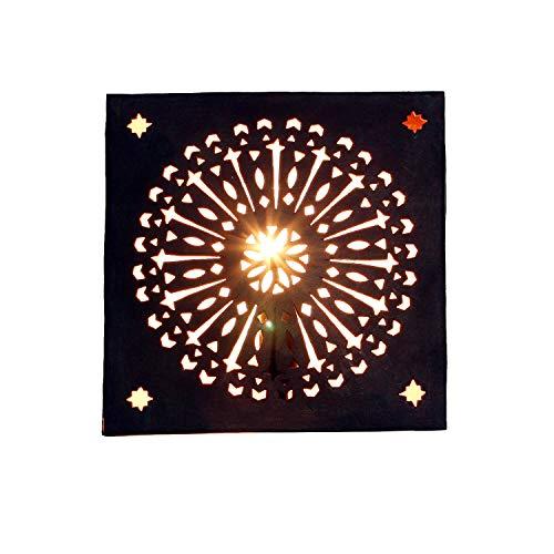 Casa Moro Orientalische Wandlampe 30x30 cm marokkanische Wandleuchte EWL36 aus Eisen | Kunsthandwerk aus Marokko | Prachtvolle Eisenlampe wie aus 1001 Nacht | L1793
