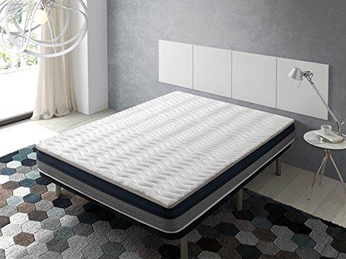 ECODE Topper Viscoelástico Renueva colchón Tourmalina 4D 80x200 - Disponible en Todas Las Medidas