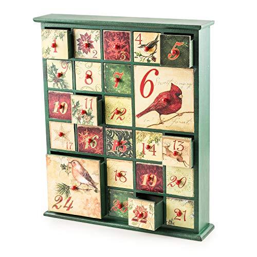 Pajoma Adventskalender om Birds te vullen, 24 schuifladen, vakjes, Kerstmis, kerstkalender