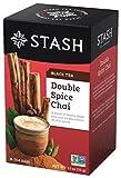 Stash Tea Double Spice Chai Black Tea, 18 Count Tea Bags in Foil (Pack of 6)