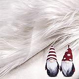 Tappeto Quadrato in Pelliccia Sintetica Tessuto di Pelliccia Pelosa Taglia Mestiere, Costume, Tappeti Decoratore di Pavimenti Camera Tappeto da Gioco Bambini (Bianco, 31 x 31 Pollici)