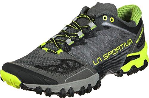 La Sportiva Bushido, Zapatillas de Trail Running para Hombre, (Black/Yellow 000), 42.5...