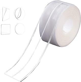 隙間テープ Atemto 防カビテープ 強力 補修テープ のり残らず 透明 アクリル 防水テープ キッチン 防油 防水 防カビ 汚れ防止 耐熱 台所 洗面台 浴槽まわり バスルーム (3.8*320cm 一つ折り)