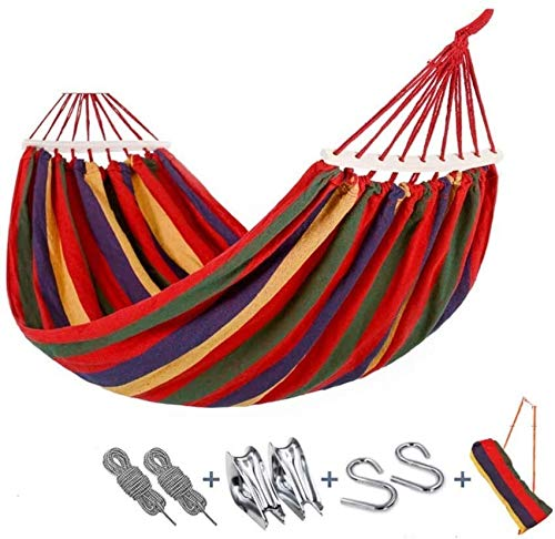 BZLLW Hammock,Garden Hammock,Single & Double Rollover Prevention Hammocks Outdoor/Garden Leisure Camping Portable Beach Swing,Bed Tree Hanging Hammock (Color : B)