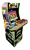 In-home retro arcade gaming fun - cowabunga! Bring home this arcade classic and team up with the epic half-shell heroes in konami's teenage mutant Ninja Turtles. 2 games in 1 - this Coin less operate arcade cabinet comes loaded with 2 iconic games in...