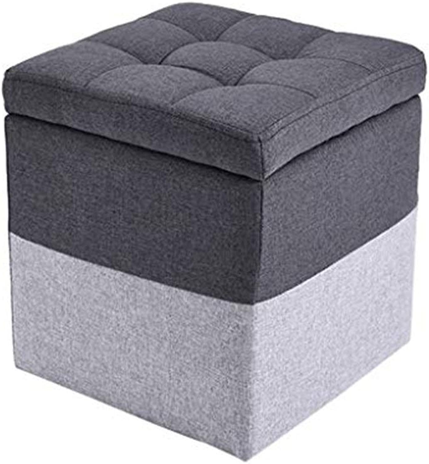 Footstool Change shoes Bench Sofa Stool Storage Stool Household Living Room Cloth Stool,30X30X30CM GFMING (color   Black)