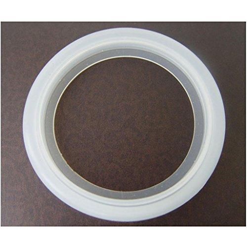 FLAMEER Anillo De Sellado Blanco De La Junta De Goma De Silicona del Reemplazo De Los 5.8cm para El Fabricante De Café