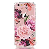 luolnh iPhone 6 6S Case with flowers, Slim Shockproof Clear