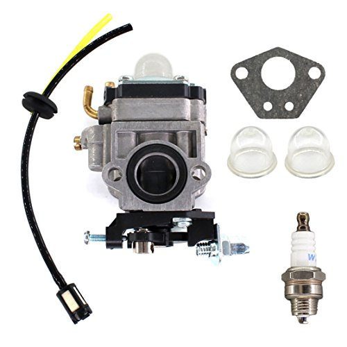 USPEEDA Carburetor for Gas 2 Cycle 43cc Powermate PCV43 Southland Mini Cultivator SCV43 Tiller Motor Parts Fuel Line Filter Grommet Kit