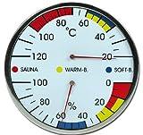 Sauna de Madera de termómetro e higrómetro modelo elecsa matrasa 9216