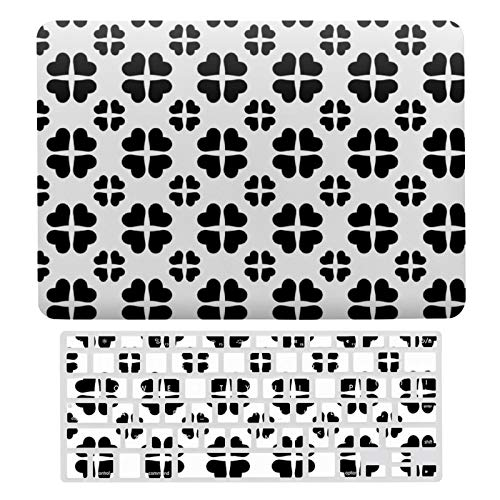 For MacBook Air 13 13 Inch Case A1466、A1369 Hard Shell Cover for MacBook Air 13 Case & Keyboard Cover, Retro Hearts Pattern Custom Background Color Laptop Protective Shell Set