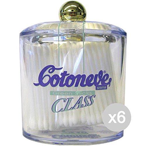 Lot de 6 Cotton Stic X 125 Class verre soin et nettoyage du visage