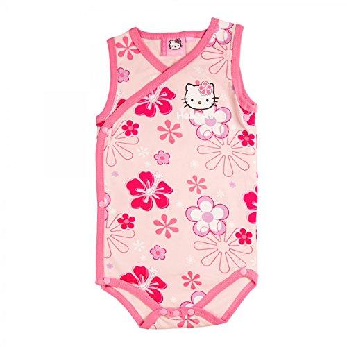 Hello Kitty - Body - Floral - Cuello Redondo - para bebé niña