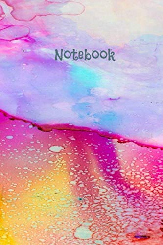 Fabileux Journal Blue Ocean Watercolor Notebook 6x9 120 pages: Lined Notebook Journal