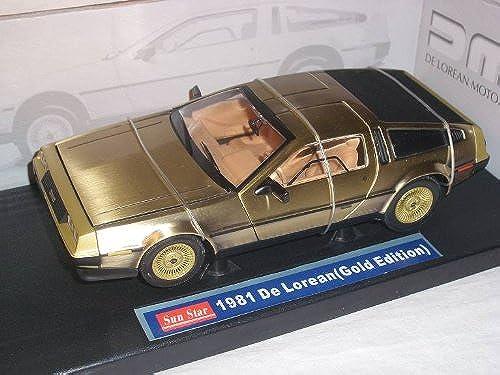 de Lorean Delorean Zurück in Die Zukunft Back To Future Gold Edition 1 18 Sun Star Sunstar Sunstar Modellauto Modell Auto