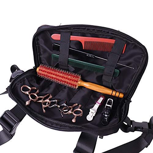 Massage-AED Bolsa PeluqueríAs,Bolsa de Tijeras de peluquería Profesional Bolsa de Tijeras de Peluquero Herramientas Bolsa de Transporte para peluqueros Estilista