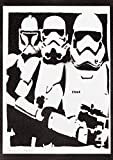 Stormtrooper Evolution Poster STAR WARS Plakat Handmade Graffiti Street Art - Artwork