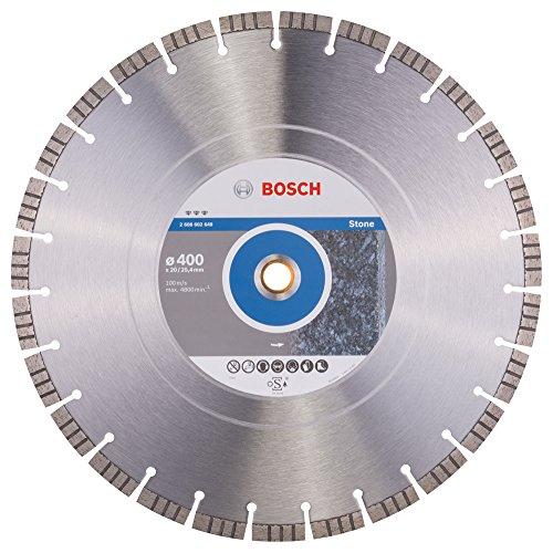 Bosch Professional Diamanttrennscheibe Best für Stone, 400 x 20,00 und 25,40 x 3,2 x 12 mm, 2608602649