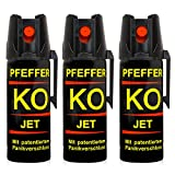 Pfefferspray KO Jet Hundeabwehr Verteidigungsspray 50 ml Abwehrspray Pepper Defender (KO Jet 50 ML 3er Set)