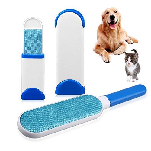 Haustierbürsten-Set, entfernt Fellhaare und Haustierhaare, 3 in 1-Set mit Selbstreiniger