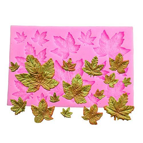 Efivs Arts DIY 3D Maple Leaf Parthenocissus ivy Shaped Silicone Mold Fondant Mold Cupcake Cake Decoration Tool 3.8'